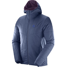 Salomon Drifter Mid Hoodie Jacket Herr dress blue/maverick